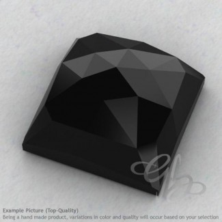 Black Spinel Square Shape Calibrated Cabochons
