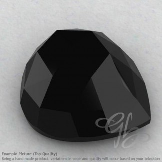 Black Spinel Heart Shape Calibrated Cabochons