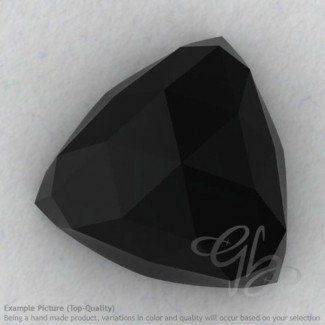 Black Spinel Trillion Shape Calibrated Cabochons