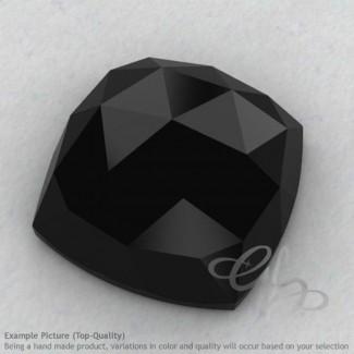 Black Spinel Square Cushion Shape Calibrated Cabochons