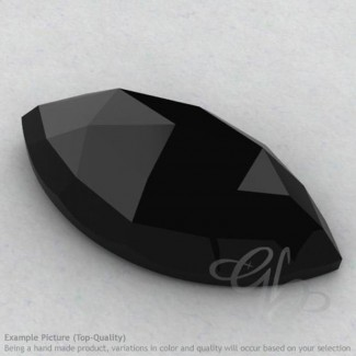 Black Spinel Marquise Shape Calibrated Cabochons