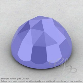 Blue Chalcedony Round Shape Calibrated Cabochons