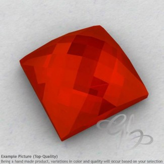 Carnelian Square Shape Calibrated Cabochons