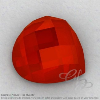 Carnelian Heart Shape Calibrated Cabochons