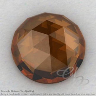 Cognac Quartz Round Shape Calibrated Cabochons