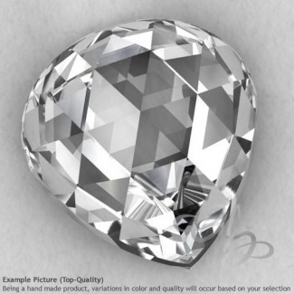 Crystal Quartz Heart Shape Calibrated Cabochons
