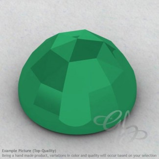 Green Onyx Round Shape Calibrated Cabochons