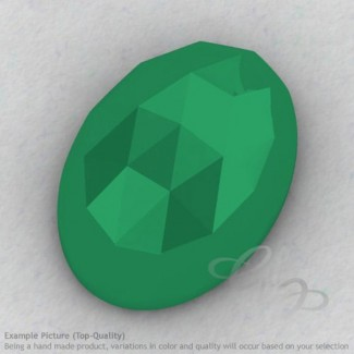 Green Onyx Oval Shape Calibrated Cabochons