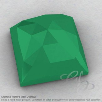Green Onyx Square Shape Calibrated Cabochons