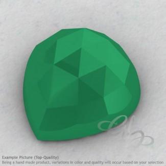 Green Onyx Heart Shape Calibrated Cabochons