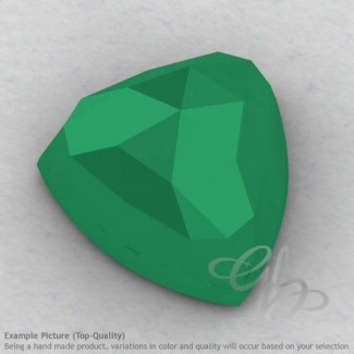 Green Onyx Trillion Shape Calibrated Cabochons