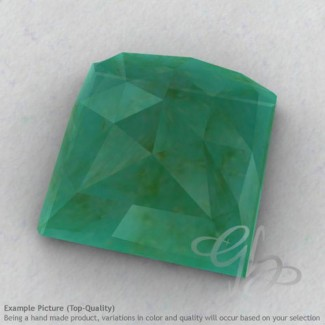 Green Aventurine Square Shape Calibrated Cabochons