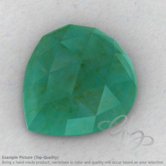 Green Aventurine Heart Shape Calibrated Cabochons
