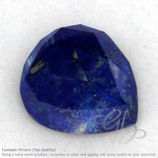 Lapis Lazuli Heart Shape Calibrated Cabochons