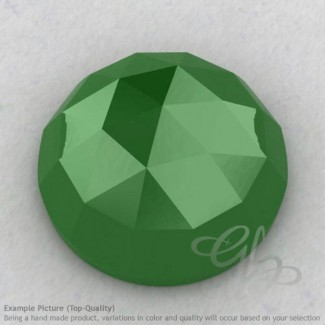 Natural Green Chalcedony Round Shape Calibrated Cabochons