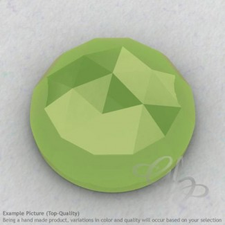 Lime Chalcedony Round Shape Calibrated Cabochons