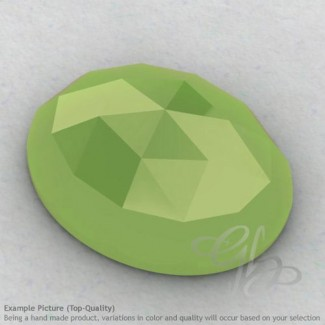 Lime Chalcedony Oval Shape Calibrated Cabochons