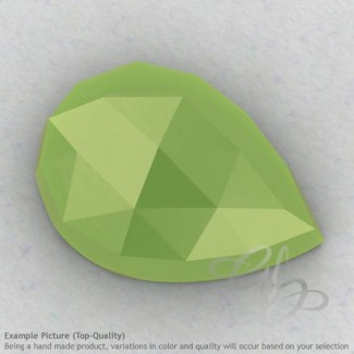Lime Chalcedony Pear Shape Calibrated Cabochons