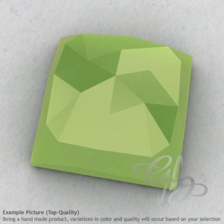 Lime Chalcedony Square Shape Calibrated Cabochons