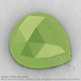 Lime Chalcedony Heart Shape Calibrated Cabochons