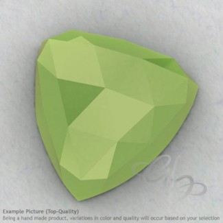Lime Chalcedony Trillion Shape Calibrated Cabochons