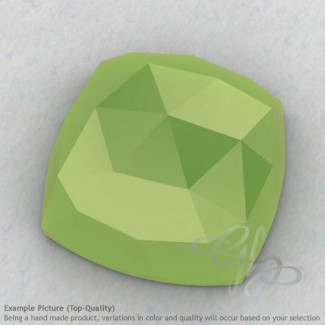 Lime Chalcedony Square Cushion Shape Calibrated Cabochons