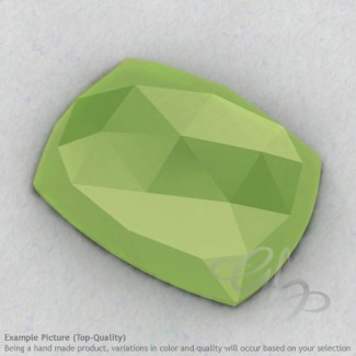 Lime Chalcedony Cushion Shape Calibrated Cabochons