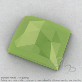 Lime Chalcedony Baguette Shape Calibrated Cabochons