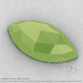 Lime Chalcedony Marquise Shape Calibrated Cabochons