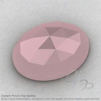 Pink Chalcedony Oval Shape Calibrated Cabochons