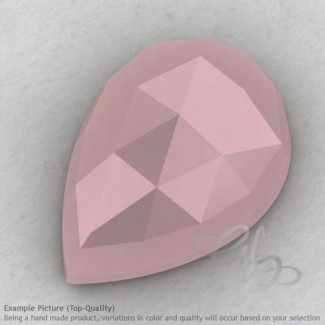 Pink Chalcedony Pear Shape Calibrated Cabochons