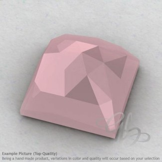 Pink Chalcedony Square Shape Calibrated Cabochons