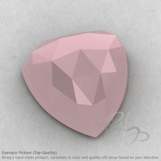 Pink Chalcedony Trillion Shape Calibrated Cabochons