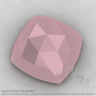 Pink Chalcedony Square Cushion Shape Calibrated Cabochons