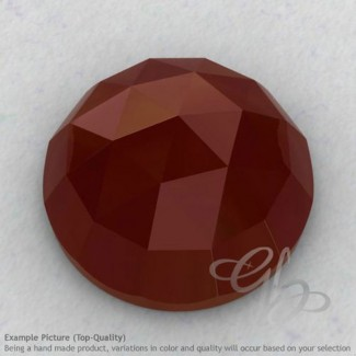 Red Onyx Round Shape Calibrated Cabochons