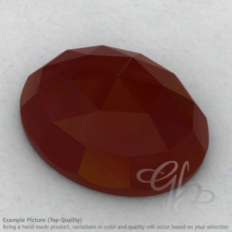 Red Onyx Oval Shape Calibrated Cabochons