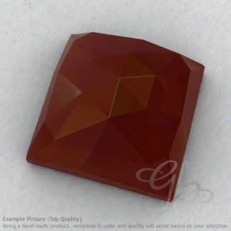Red Onyx Square Shape Calibrated Cabochons