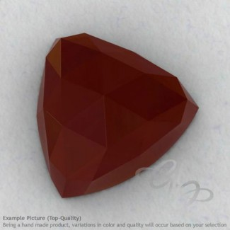 Red Onyx Trillion Shape Calibrated Cabochons