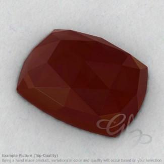 Red Onyx Cushion Shape Calibrated Cabochons
