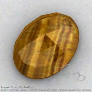 Yellow Tiger Eye Oval Shape Calibrated Cabochons