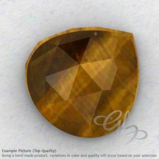 Yellow Tiger Eye Heart Shape Calibrated Cabochons