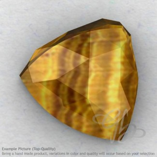 Yellow Tiger Eye Trillion Shape Calibrated Cabochons