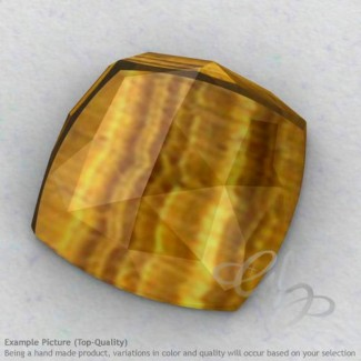 Yellow Tiger Eye Square Cushion Shape Calibrated Cabochons
