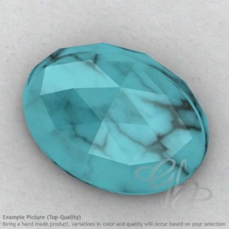 Turquoise Oval Shape Calibrated Cabochons