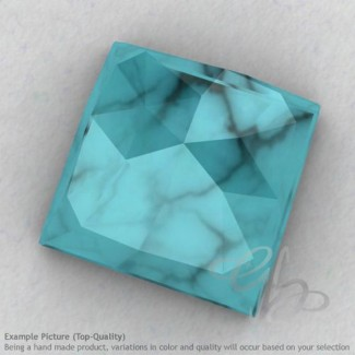 Turquoise Square Shape Calibrated Cabochons