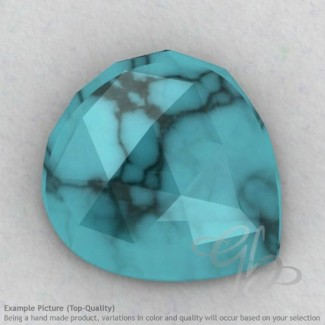 Turquoise Heart Shape Calibrated Cabochons