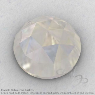 Rainbow Moonstone Round Shape Calibrated Cabochons