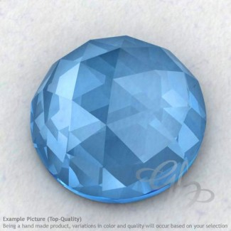 Swiss Blue Topaz Round Shape Calibrated Cabochons