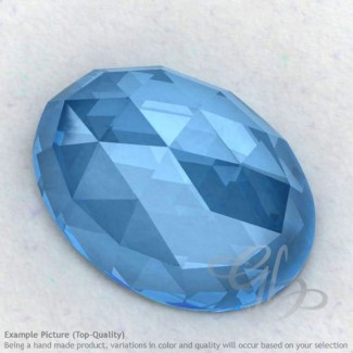 Swiss Blue Topaz Oval Shape Calibrated Cabochons
