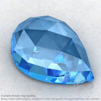 Swiss Blue Topaz Pear Shape Calibrated Cabochons